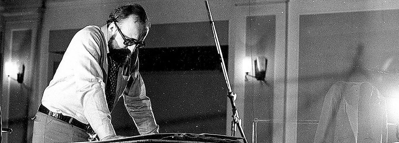 Katowice, kwiecień 1972 rok, Krzysztof Penderecki podczas nagrania płytowego dla EMI