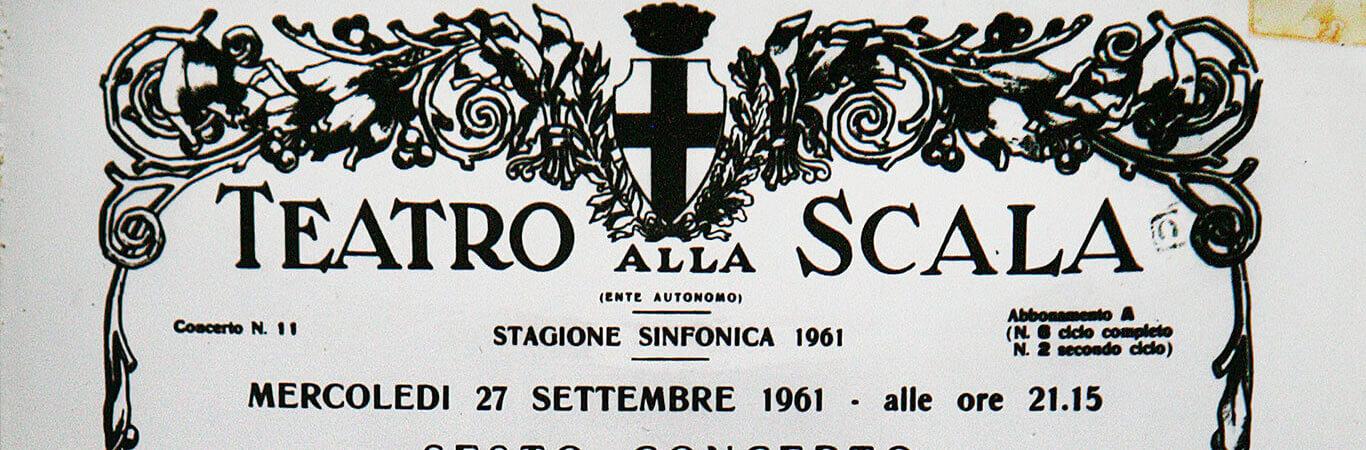 27.09.1961, plakat z La Scali