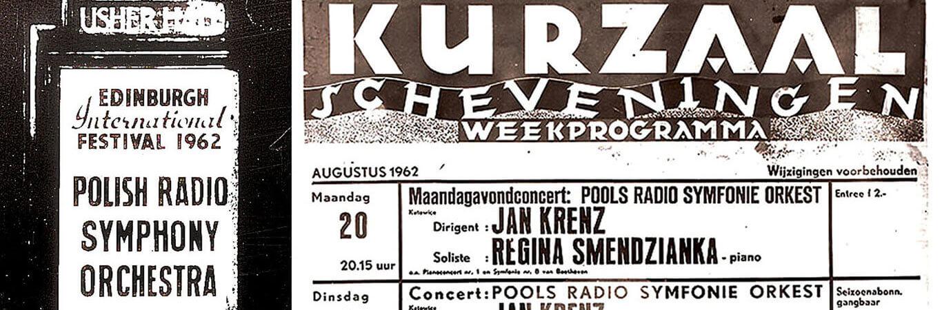 Plakaty z tournée do Holandii i Wielkiej Brytanii