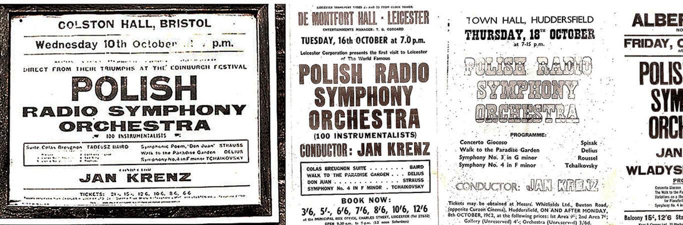 Plakaty z tournée do Wielkiej Brytanii, Belgii i Francji