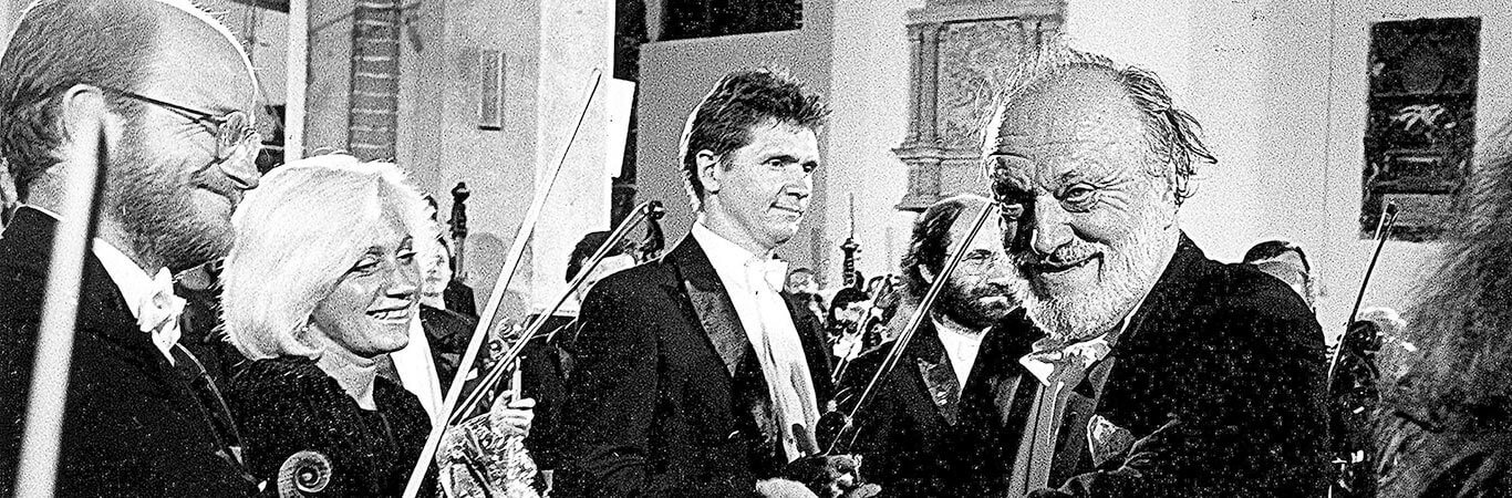 18. Brzeg, 9.07.1994, Kurt Masur podczas koncertu w kościele pw. św. Mikołaja