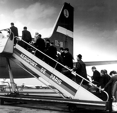 Paryż, lotnisko Orly, prawdopodobnie 1971 rok i odlot po tournée po Francji