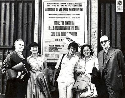 Włochy, 25.05.1977, przed Auditorium Conciliazione