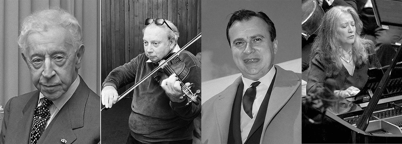 Artur Rubinstein, Isaac Stern, Henryk Szeryng i Martha Argerich