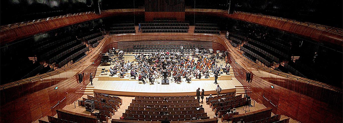 Katowice, 1.10.2014, nowa Sala Koncertowa Narodowej Orkiestry Symfonicznej Polskiego Radia.
