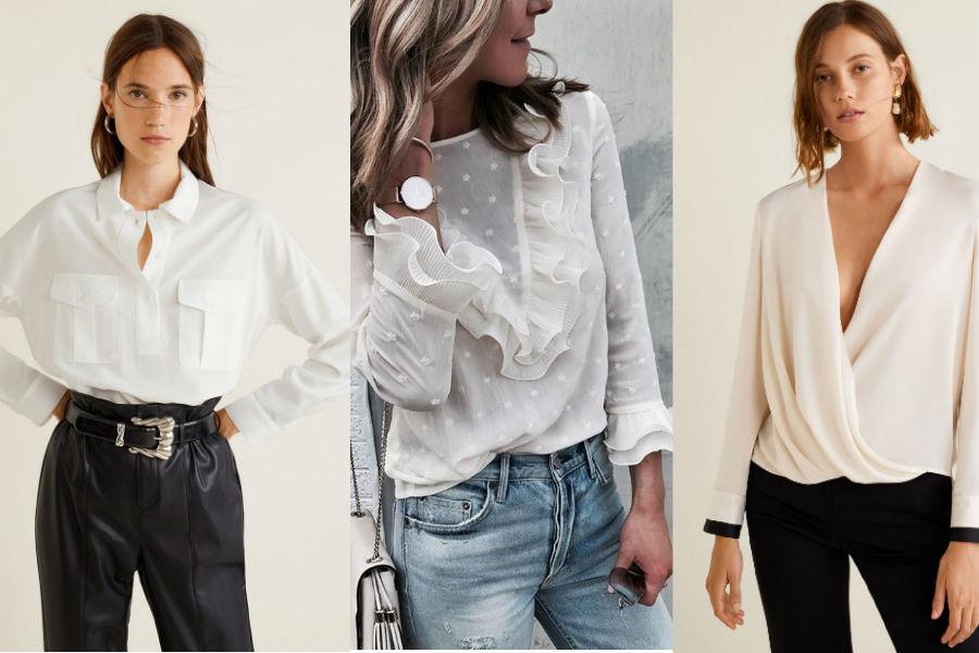 341fd70f23 Biała bluzka koszulowa  idealna baza do codziennych stylizacji