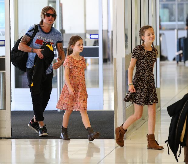 EXCLUSIVE: *NO SUBSCRIPTION USE*  Keith Urban, Faith Margaret Kidman and Sunday Rose pictured leaving Sydney.  Where image credits are published, 'KHAPGG' must be included. KHAPGG reserves the right to reverse any prior publishing or usage permissions where 'KHAPGG' credits have been excluded from published image credits. 31 Jan 2019 Pictured: Keith Urban; Faith Margaret Kidman; Sunday Rose. Photo credit: KHAPGG / MEGA  TheMegaAgency.com +1 888 505 6342