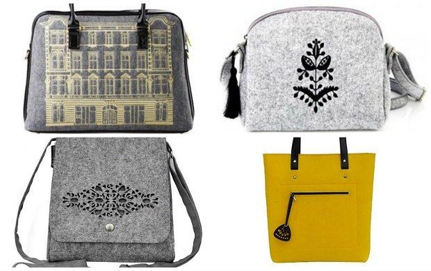 a3db6ab16a880 Modne torebki z filcu na sezon jesienno-zimowy - przegląd.