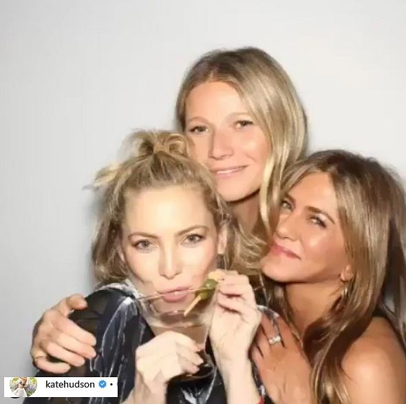 Jennifer Aniston, Kate Hudson i Gwyneth Paltrow