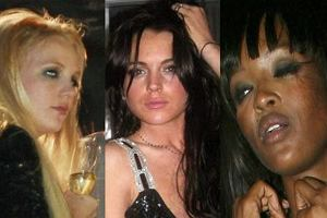 Britney Spears, Lindsay Lohan, Naomi Campbell.