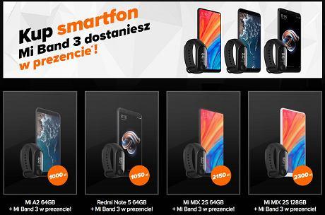 f6f8bb91a2596 A jeśli planujecie zakup smartfona Xiaomi, dziś w oficjalnym sklepie  producenta do wybranych modeli kosztująca 150 zł opaska Mi Band 3 gratis.