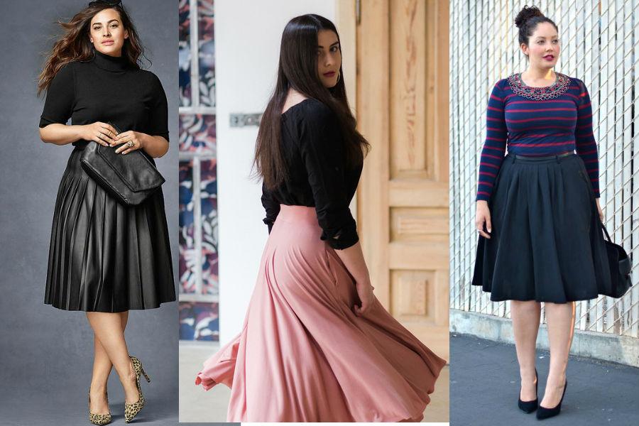 8ef7951a Rozkloszowane spódnice na jesień: piękne modele, które ukryją ...