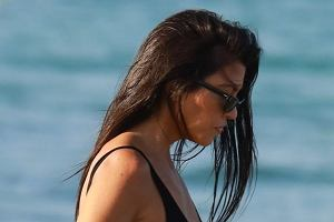 Kourtney Kardashian w Saint Tropez