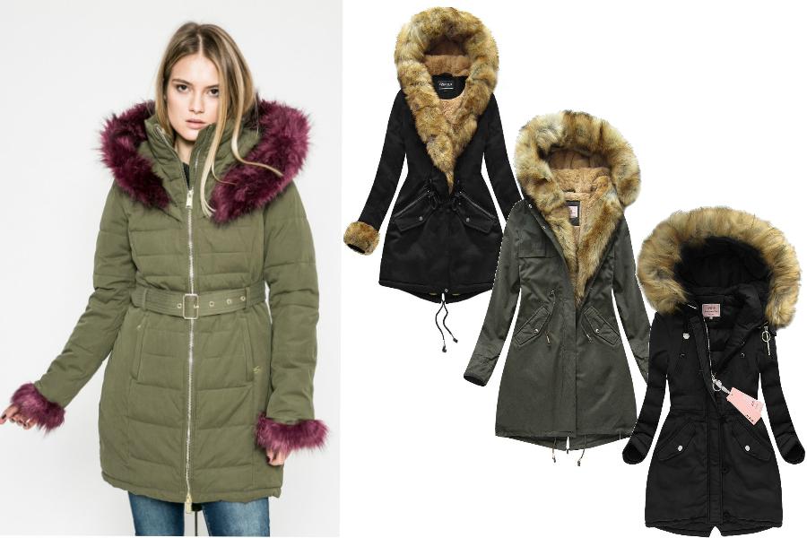 e3b5fc5c Kurtka parka z futerkiem: ciepła kurtka na sezon jesienno - zimowy