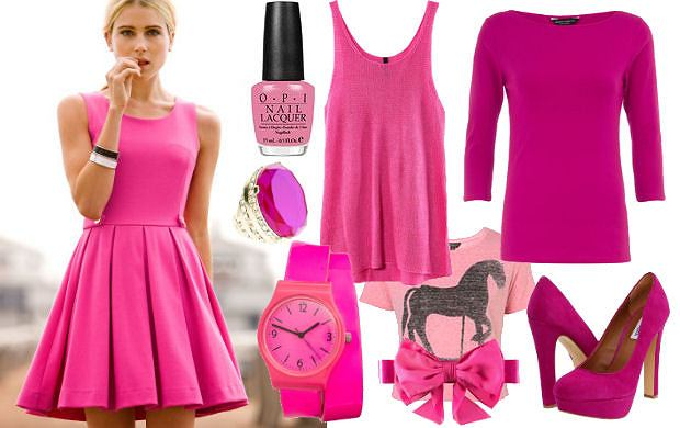 18d4f201ea Fokus na  różowe ubrania
