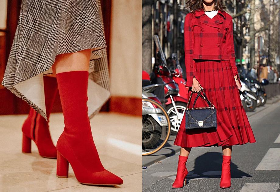 0f58539d33a77 Botki skarpetkowe - modne buty jesienne. Do czego pasują botki z ...