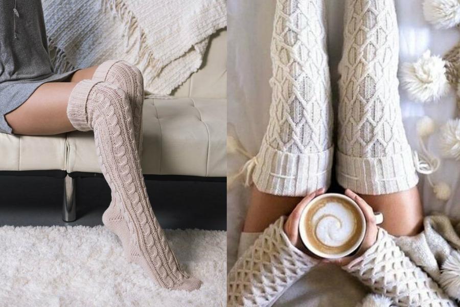 93c7f309341653 ciepłe zakolanówki bawełniane na chłodne dni