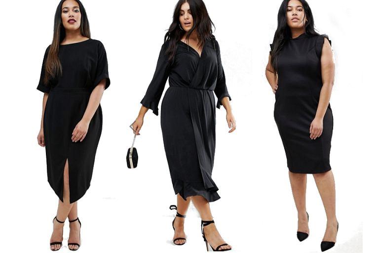 d744c60355d8a Czarne sukienki plus size marki Asos! Wiele modeli z.