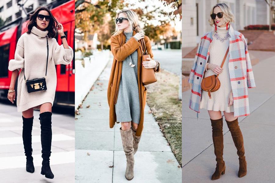 e86bd44f1d Ciepłe sukienki na zimę  sukienki swetrowe oraz dzianinowe