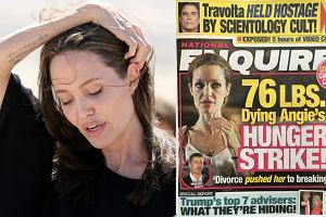 Angelina Jolie/ okładka 'National Enquirer'