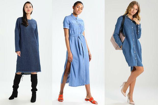 f291427495de3 Sukienki jeansowe na jesień  przegląd