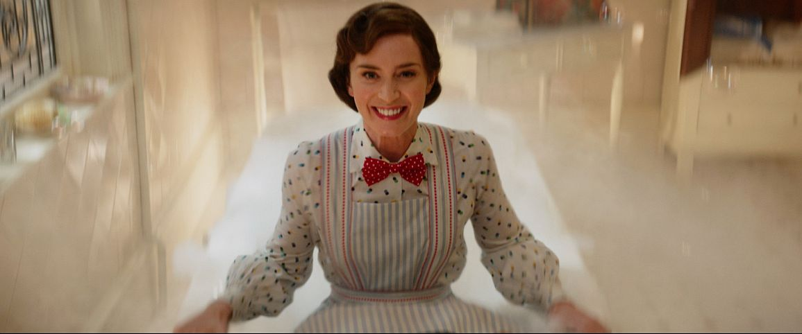 Emily Blunt is Mary Poppins in Disneys MARY POPPINS RETURNS, a sequel to the 1964 MARY POPPINS, which takes audiences on an entirely new adventure with the practically perfect nanny and the Banks family.