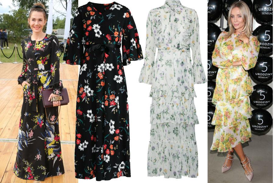 190d47c732 Długie sukienki w kwiaty. Fot. WBF. Sukienka koszulowa
