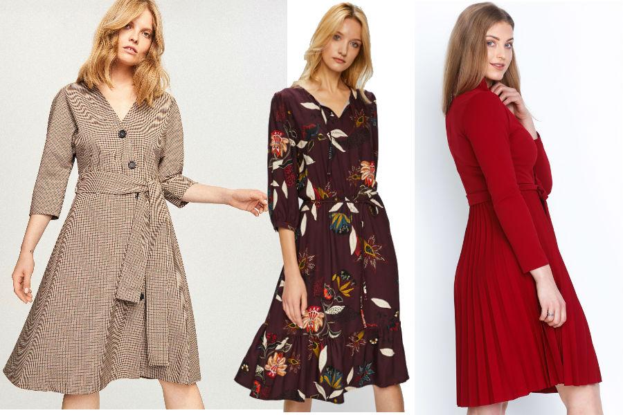 62488e8a17 Sukienki do pracy w jesiennych kolorach