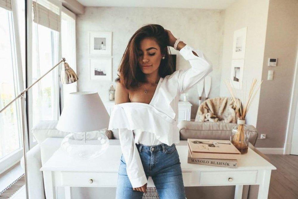 e2fd612300 Biała bluzka koszulowa  idealna baza do codziennych stylizacji