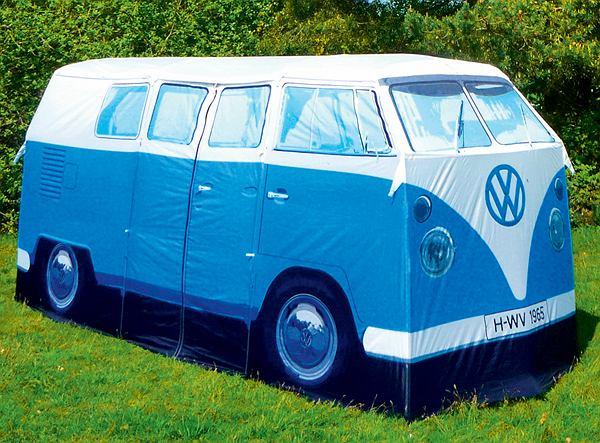 VW Camper Van Tent to namiot będący repliką ulubionego pojazdu hipisów.