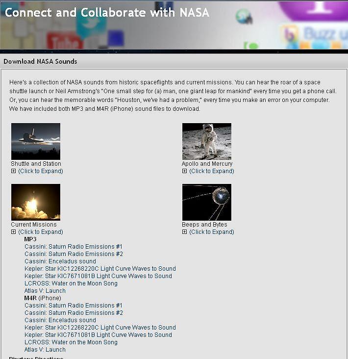 Nagrania NASA dzwonkiem w komórce