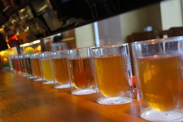 Ekspozycja herbat w T-barze