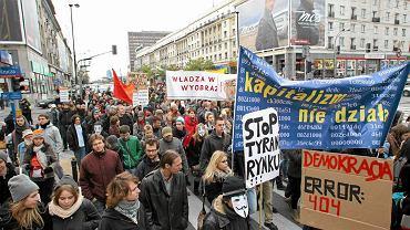 Marsz Oburzonych w Warszawie