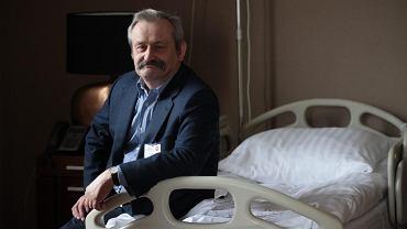 Prof. Tomasz Niemiec w sali poporodowej Szpitala Medicover na warszawskim Wilanowie