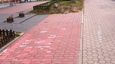 Urwana ścieżka rowerowa przy ul. Roentgena na Ursynowie