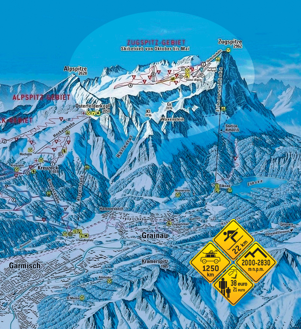 Narty w Alpach. Zugspitze - Niemcy