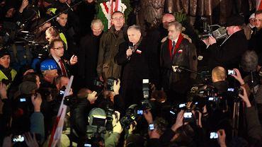 Jarosław Kaczyński przemawia na Marszu Solidarności i Niepodległości