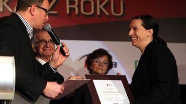 Anna Wacławik-Orpik odbiera nagrodę Grand Press
