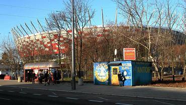 Kantor w budce przy Stadionie Narodowym