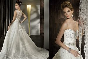 Trendy ślubne na 2012 w lookbooku Lisa Ferrera - Demetrios
