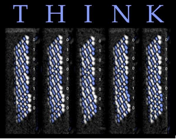Hasło IBM - Think - zapisane na 480 atomach