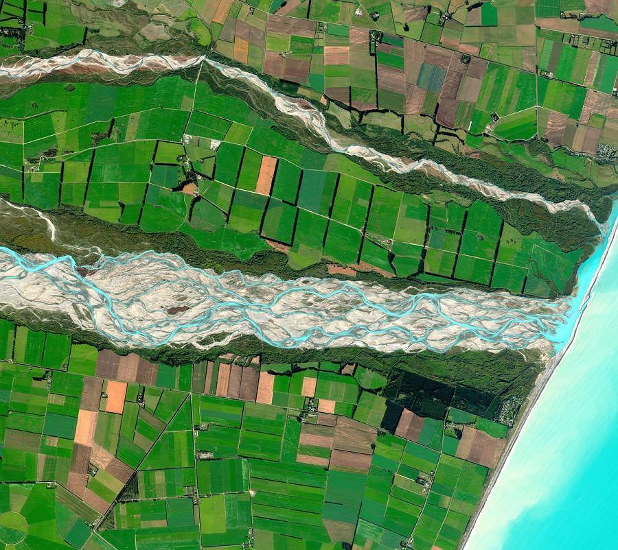 Rakaia z Nowej Zelandii wygrała konkurs na najlepsze zdjęcie satelitarne roku 2011