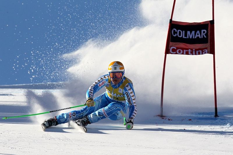 Anja Paerson of Sweden in action during the Audi FIS Alpine Ski World Cup Women