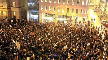 Wczorajsza demonstracja w Warszawie przeciwko umowie ACTA