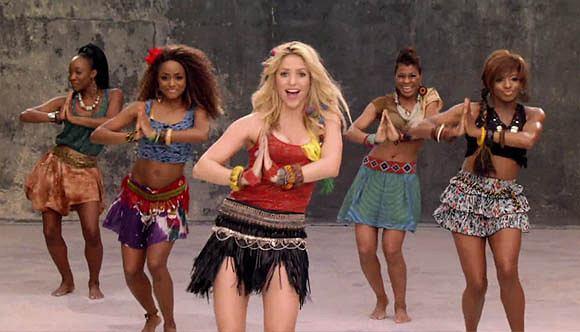 Shakira w teledysku do