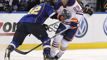 Sam Gagner w meczu z St Louis Blues