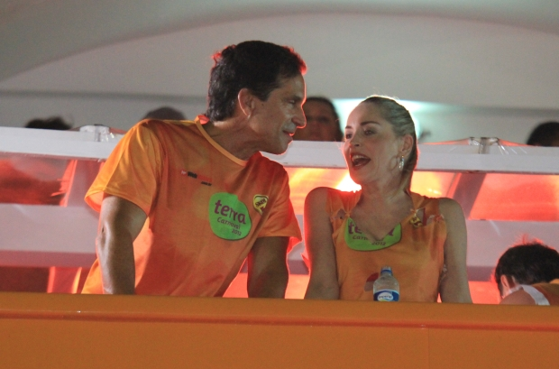 Feb 18 , 2012 - Salvador, Brazil -Sharon Stone enjoys the Canival in Salvador, North Brazil!!!                                                          Ref#AKM8936                                                              Credit : AKM-GSI                                                                                     For Liscensing Contact: Alex or Thaissa at Sales@akmimages.net                                                    Office:  +1 424.237.2908 *** Local Caption ***  Sharon Stone