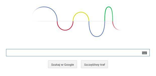 Google doodle z okazji 155. rocznicy urodzin Heinricha Hertza