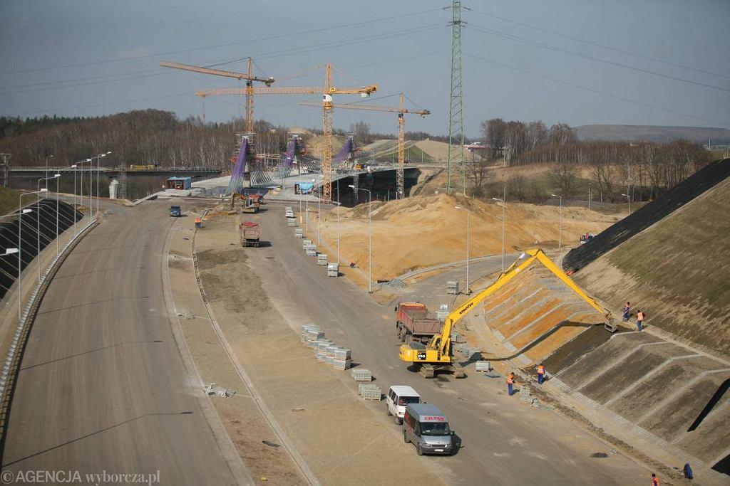 Budowa autostrady A1 do granicy w Gorzyczkach, 3 kwietnia 2012