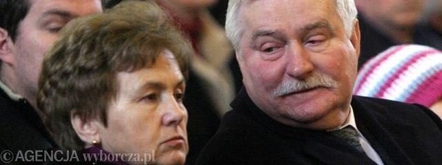 Danuta Wałęsa z mężem Lechem